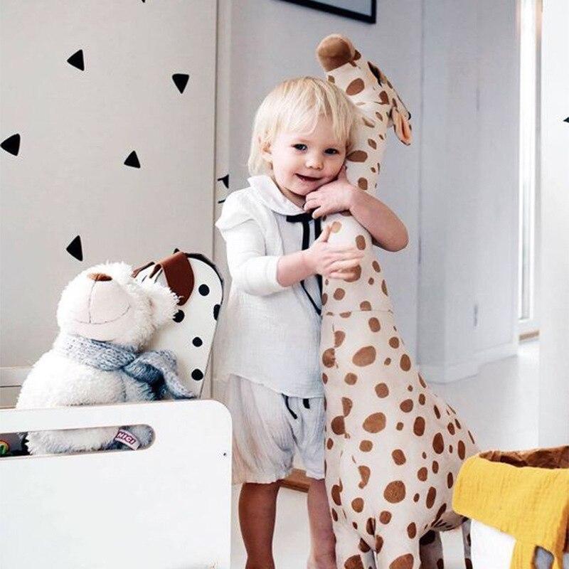 65cm cartoon giraffe plush toy baby accompany doll gift kids toys bedroom decor stuffed animal dolls for christmas birthday